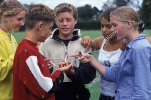 Kids Smoking - thinking it is fun
